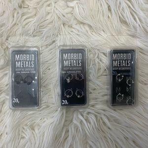 NWT Morbid Metals   Various Septum Piercings 20G